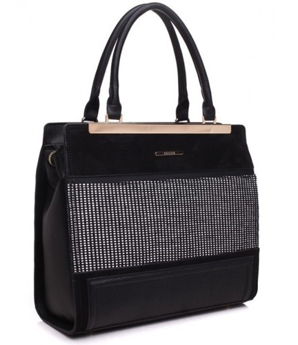 Bessie Tote Bag in BLACK BD3107