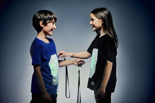 Write On Children's T-Shirt with UV Keyring- Various Colours