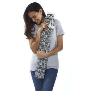 Intelex PVC Long Hot Water Bottle in Gift Box - Grey Nordic