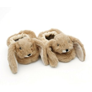 Brown Baby Bunny Slippers