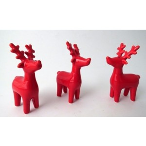 Red Ceramic Reindeer Hanging Decoration