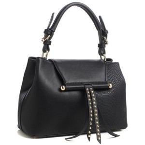 Bessie London Tote Handbag in Black