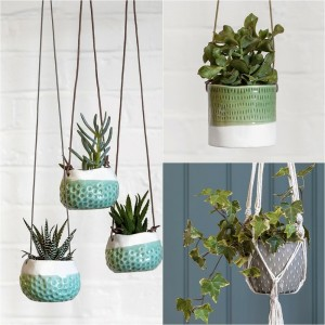 Burgon & Ball Hand Crafted Indoor House Plant, Herb Hanging Pots - 3 Designs