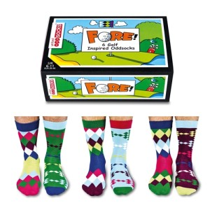 United Oddsocks Men's Fore Golf Socks