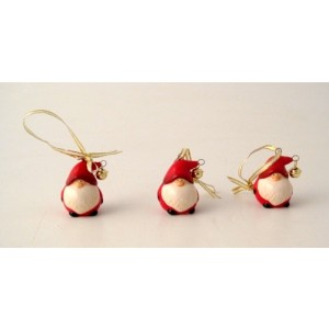 Small Santa Tree Decoration with Bell
