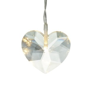 Light Up Crystal Heart Christmas Decoration