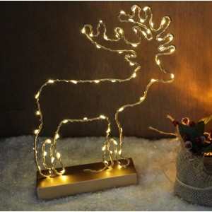 LED Gold Reindeer Christmas Decoration