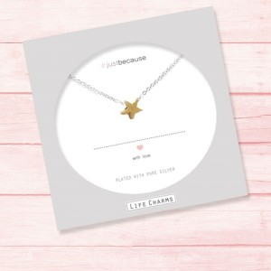 Single Gold Star Necklace by Life Charms