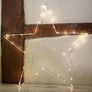 Medium White Starlight - Christmas - Battery