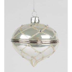 SILVER DIAMOND TRINKET BAUBLE