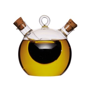 World of Flavours 2-in-1 Round Olive Oil and Vinegar Bottle