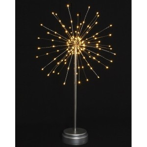 Starburst Silver Battery Lamp
