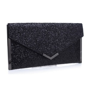 Bessie Evening Clutch Bag Flash Black
