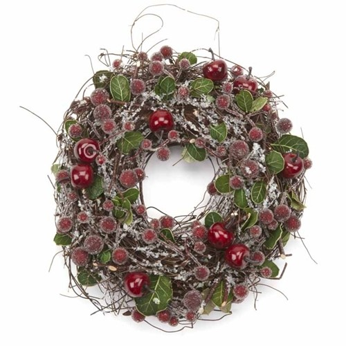 Small Frosted Berry Christmas Wreath