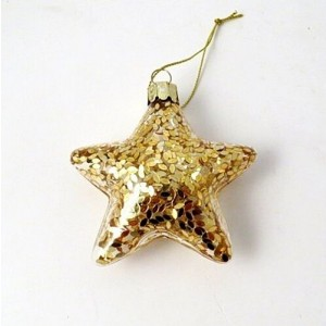 Gold Leaf Star Christmas Decoration