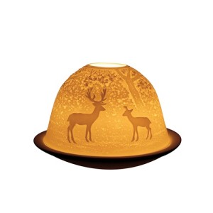 Light Glow Forest Deer T-Light Candle Holder