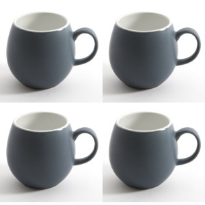 Slate Blue London Pottery Pebble Mugs Set of 4