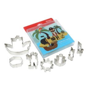 Set of 7 Treasure Island Cookie Cutter Set