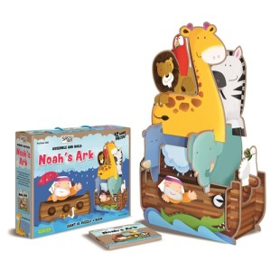 Assemble & Build Noah's Ark Giant 3D Puzzle & Book