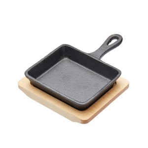 Artesà Cast Iron Rectangular 12.5cm Mini Fry Pan with Serving Board