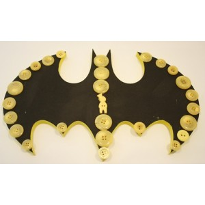 Dotty Birds Batman - Paint, Stick and Display