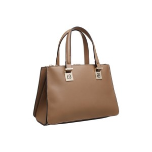 Bessie London Tote Style Handbag in Stone