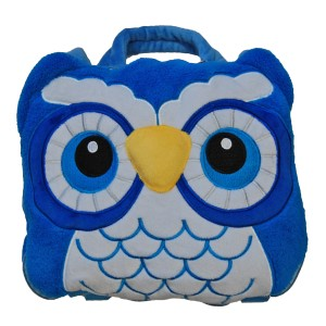 Cozy fleece Owl Backpack / Carry Bag with Blanket