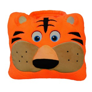 Cozy fleece Tiger Backpack / Carry Bag with Blanket