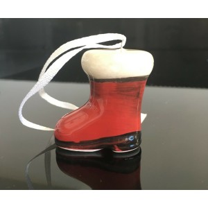 Santa Boot Hanging Christmas Decoration