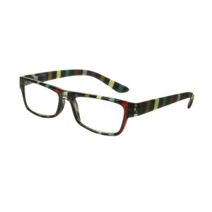 'Allsorts' Black / Multi-Stripe Reading Glasses