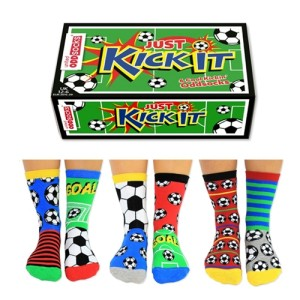 "United Oddsocks ""Kick It"" Kids Football Socks"