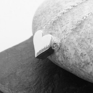 Solid Heart Charm Necklace by Life Charms
