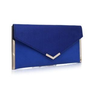Bessie Evening Clutch Bag in Blue