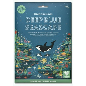 CREATE YOUR OWN DEEP BLUE SEASCAPE- Board Game & Poster