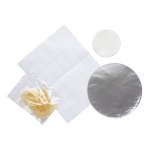 Home Made Pack of 24 Transparent Jam Jar Cover Kit - 2lb